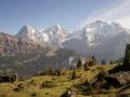 스위스의 알프스에서 하이킹