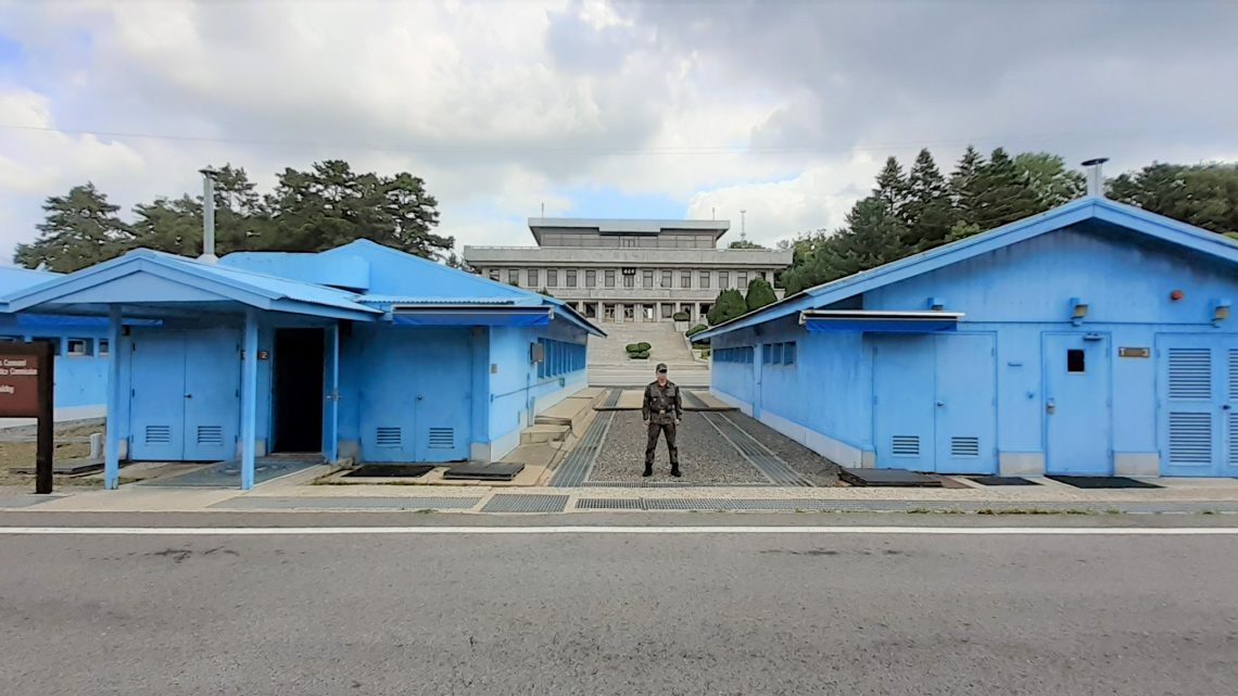 On the North & South Korean Border at The Joint Security Area